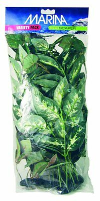 Marina Ecoscraper Silk Aquarium Plants, Large