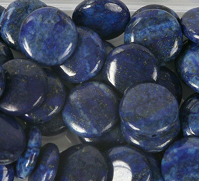 Pack of 5 Lapis 20mm Disc Beads for Jewellery Making (T6CL)