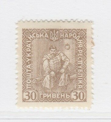 A2P44 UKRAINE NOT ISSUED STAMP 1920 30g MH* #43
