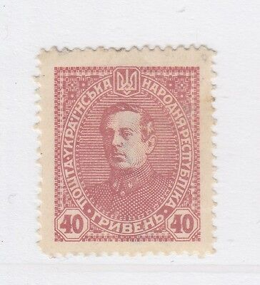 A2P44 UKRAINE NOT ISSUED STAMP 1920 40g MH* #47