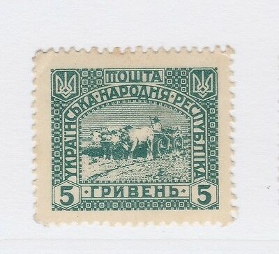 A2P44 UKRAINE NOT ISSUED STAMP 1920 5g MH* #23