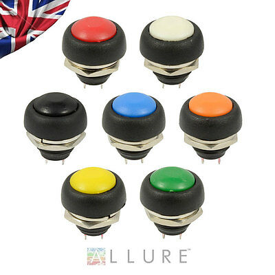 12V Momentary Push Button Horn Switch OFF (ON) Car Dashboard Boat SPST