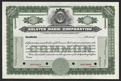 Kolster Radio Corporation - Specimen
