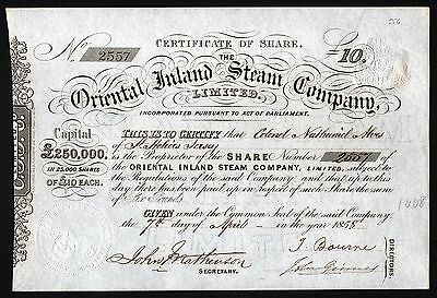 1858 The Oriental Inland Steam Company, Limited
