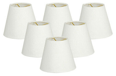 Hardback Empire Linen White Chandelier Lamp Shade Clip On