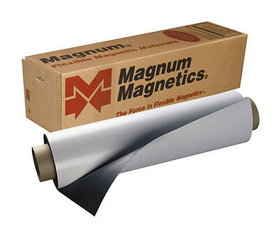 "24"" x 60"" Roll Magnum Magnetics 30 Mil. Blank White Sheet - Car, Vehicle Magnets"