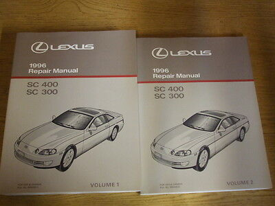 1996 LEXUS SC400 SC300 SC 300 400 Repair Manual 2 VOLUME SET Shop Service OEM