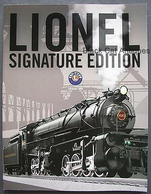 Orig 2009 Lionel  Signature Edition Model Trains/Accessories Catalog w/Prices