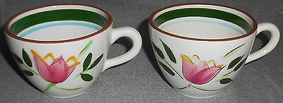 Stangl COUNTRY GARDEN PATTERN Hand Painted CUPS Trenton, New Jersey