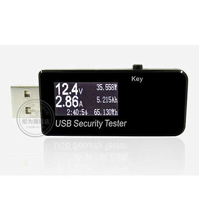 USB Tester LCD Current Voltage Power Meter Capacity Monitor Power Bank Meter