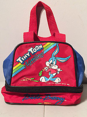 Vintage 1991 Buster Bunny Tiny Toon Adventures Animated Lunch Bag Warner Bros