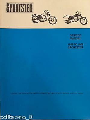 harley sportster service manual 1959 to 1969 xl xlh xlch wiring diagrams  magneto