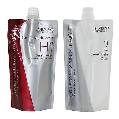 Straight Hair Perm Cream Shiseido Crystallizing For Thick curly hair H1+2 400g