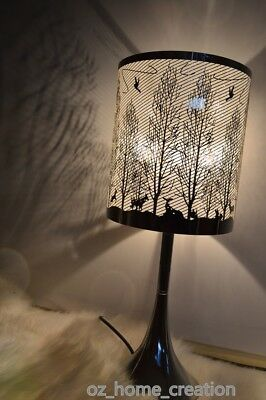 2017NEW ARRIVED high quality Bedside Table 3 level Touch Lamp Feather silver47CM