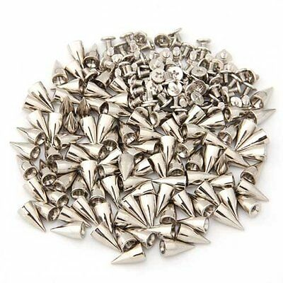 100 X supports Rivets 14mm Pointes de Balle Argentee Sac / Chaussures / Gants WT