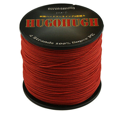 Top Useful 100% PE Red 100-1000M 6-300LB Dyneema Power Super Braid Fishing Line