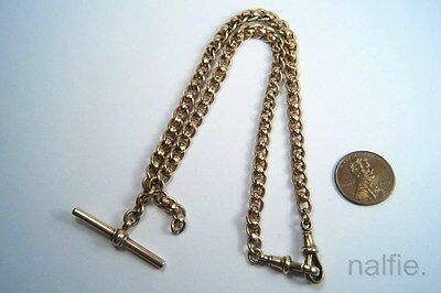ANTIQUE ENGLISH LATE VICTORIAN 9 CARAT GOLD ALBERT WATCH CHAIN c1900