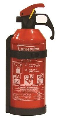 Streetwize SWFE1 Fire Extinguishers (EN3/CE62 Standard) - 1 kg Dry Powder ABC