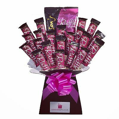 Raspberry Ruffles Chocolate Bouquet - Sweet Hamper Tree - Perfect Gift