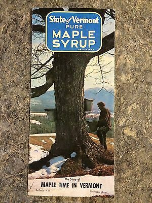 VINTAGE 1970's VERMONT MAPLE SYRUP PRODUCERS BROCHURE   ADVERTISING