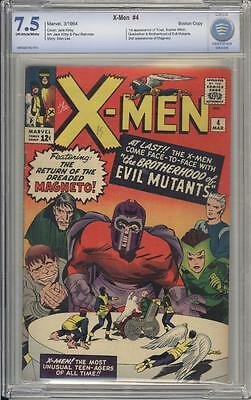 X-MEN 4 - CBCS 7.5 - 1st Scarlet Witch, Quicksilver and Toad - Marvel Comics