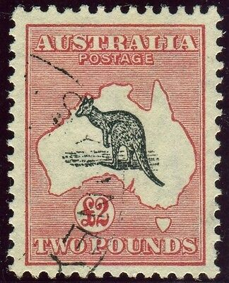 AUSTRALIA-1934 £2 Black & Rose.  A fine used example Sg 138