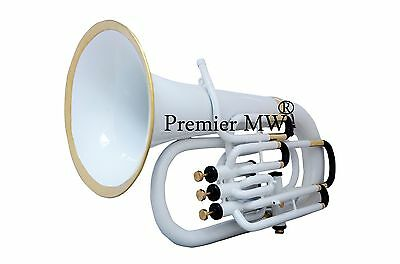 Premier MW 4 VALVE Bb PITCH EUPHONIUM WHITE COLORED + brass POLISHED  WITH CASE