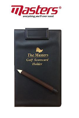NEW Golf Scorecard holder Black Free Ball marker Thin Lightweight pencil holder
