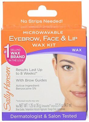 New Sally Hansen Microwaveable Eyebrow Face Lip Wax Kit