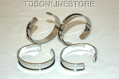 Bright Silver Plated Channeled Bracelet Cuff Blanks 1/2 Inch Pkg Of 12