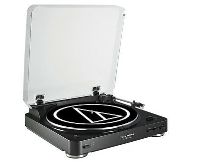NEW!! Audio Technica AT-LP60BK-BT Fully Automatic Bluetooth Turntable (Black)