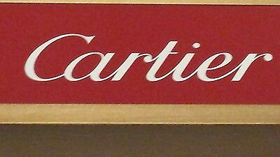 100% Authentic Cartier Store Display Merchandise For Jewelry & Eyewear Red/gold