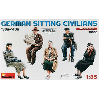 NEW MiniArt 1/35 German Civilians Sitting 1930-40s (5) 38006