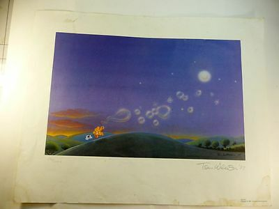 Ziggy print signed & numbered by Tom Wilson '87   Bubbles under the Moon