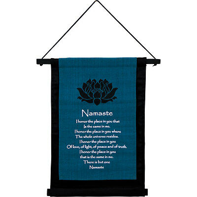 Namaste Cotton Scroll Type Banner, Wall Hanging!