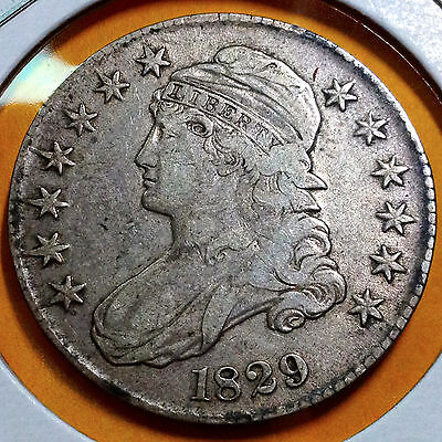 1829 Bust Half Silver Dollar Type Coin From Old Collection