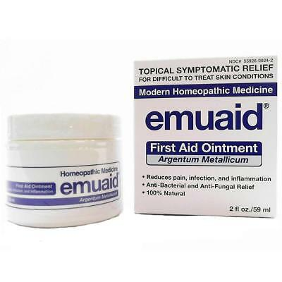 NEW Emuaid Natural First Aid Ointment 2oz Fights Infection Pain Relief Eczema