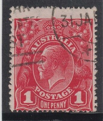 Stamp 1d deep red KGV large multiple watermark G103, ACSC 73C with certificate