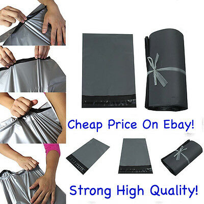 Strong Grey Cheap Mailing Bags Poly Postal Postage Post Mail Self Seal All Sizes