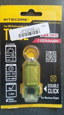 Nitecore TUBE USB Rechargeable Keyring Torch 45 Lumen - Green