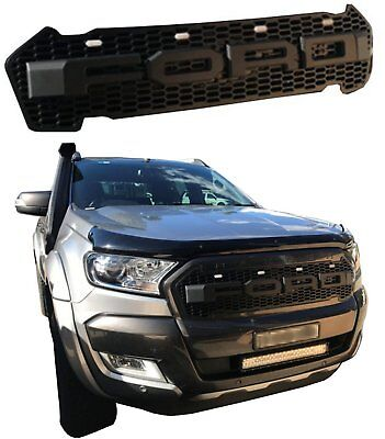 RANGER NEW Custom Raptor Style Grill Fits 2015 2016 2017 Models BLACK White LEDs