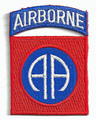 AIRBORNE - 82nd AIRBORNE - TRADITIONAL - IRON-ON PATCH