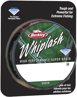 CLEARANCE Berkley WHIPLASH Braid 330 yards / 300 m GREEN 65lb 26.4 kg 0.20 mm