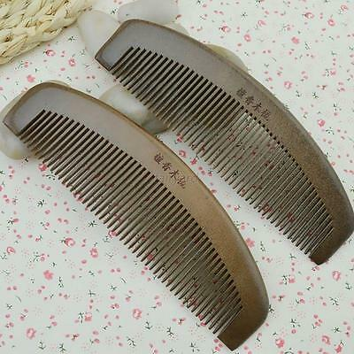 Handmade Fine Tooth Green Sandalwood No Static Pocket Hair Beard Mustache Comb