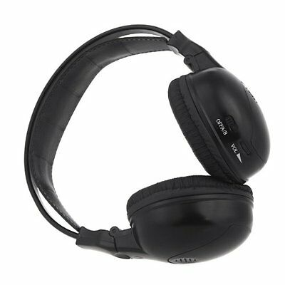 Casque / ecouteurs stereo infrarouge pliable sans fil a double canal Casque IR