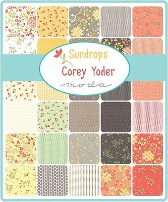 Patchwork/quilting Fabric Moda Charm Squares/packs - Sundrops