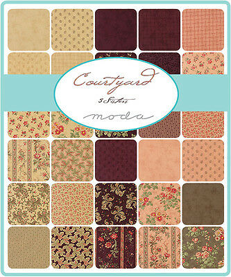 Patchwork/quilting Fabric Moda Charm Squares/packs - Courtyard