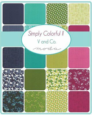 Patchwork/quilting Fabric Moda Charm Squares/packs - Simply Colourful Ii