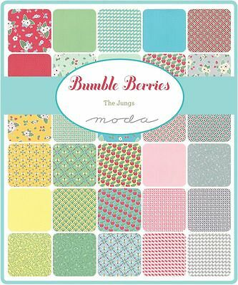 Patchwork/quilting Fabric Moda Charm Squares/packs - Bumble Berries