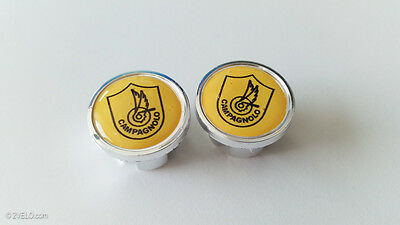 Vintage style CAMPAGNOLO Handlebar End Plugs yellow
